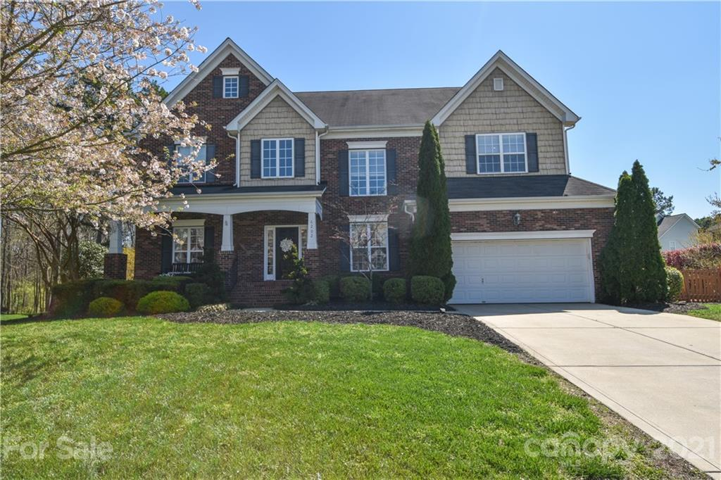 Beautiful home in desirable Huntersville community located close to everything!!!  Open kitchen area with HUGE island and eat in area.  Office and guest bedroom on main level.  Formal living/dining.  Owners suite and guest bedrooms upstairs.  Backyard OASIS with stacked stone fireplace that overlooks fenced backyard.  Large corner lot.