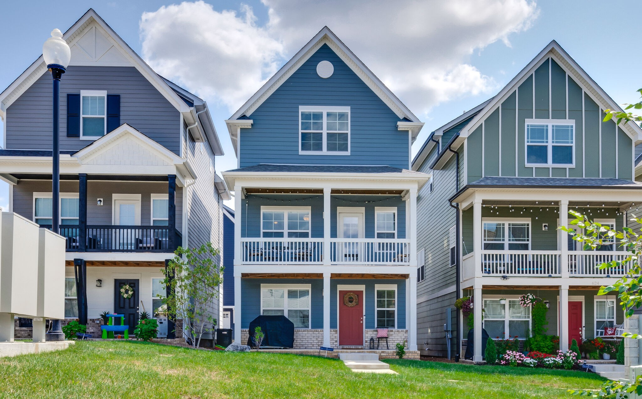 The Ingram. Three story with upstairs primary. First floor features entry foyer, bonus room, half bath. Second floors has an open family room, kitchen, dining, and 1/2 bath. Third floor contains the owners suite, 2 additional bedrooms, and 2 full baths.