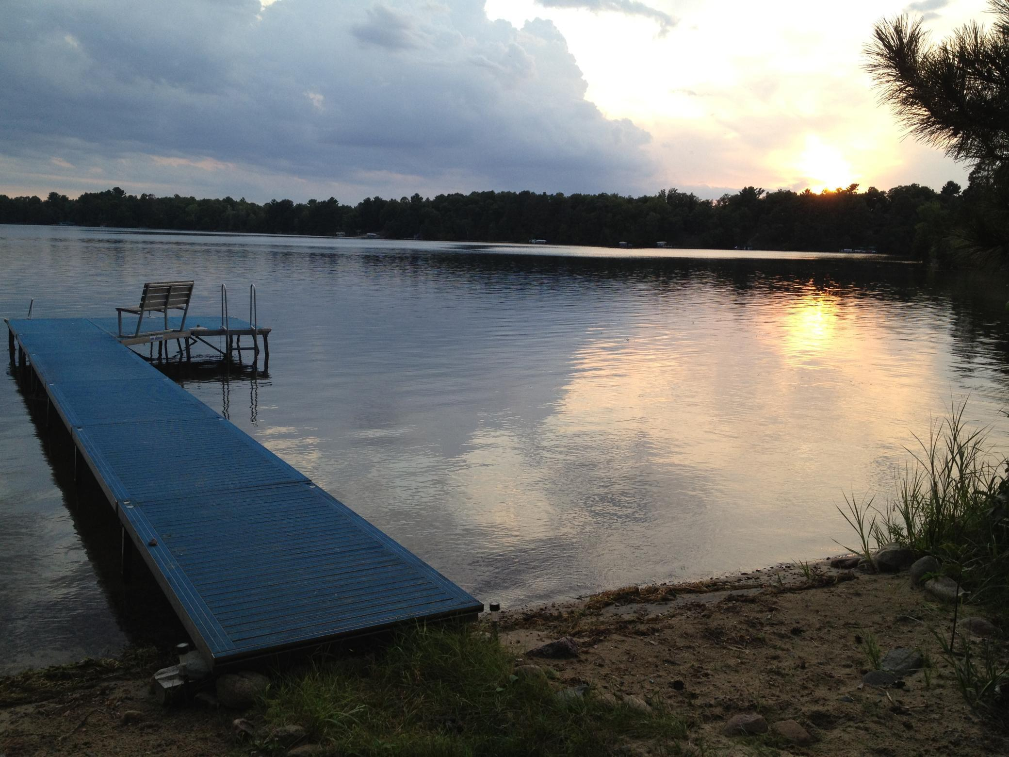 Amazing Property! Unbelievable privacy on the Whitefish Chain! Approx 5 acres and 1100' sandy shoreline on the Big Island of Rush Lake.  Beautiful sunsets!  Wildlife abound.  What more could you ask for? 2 furnished cabins with electric/sewer/well/internet.  Use the cabins now and build your dream retreat later or enjoy as is.   Adjoining property available.