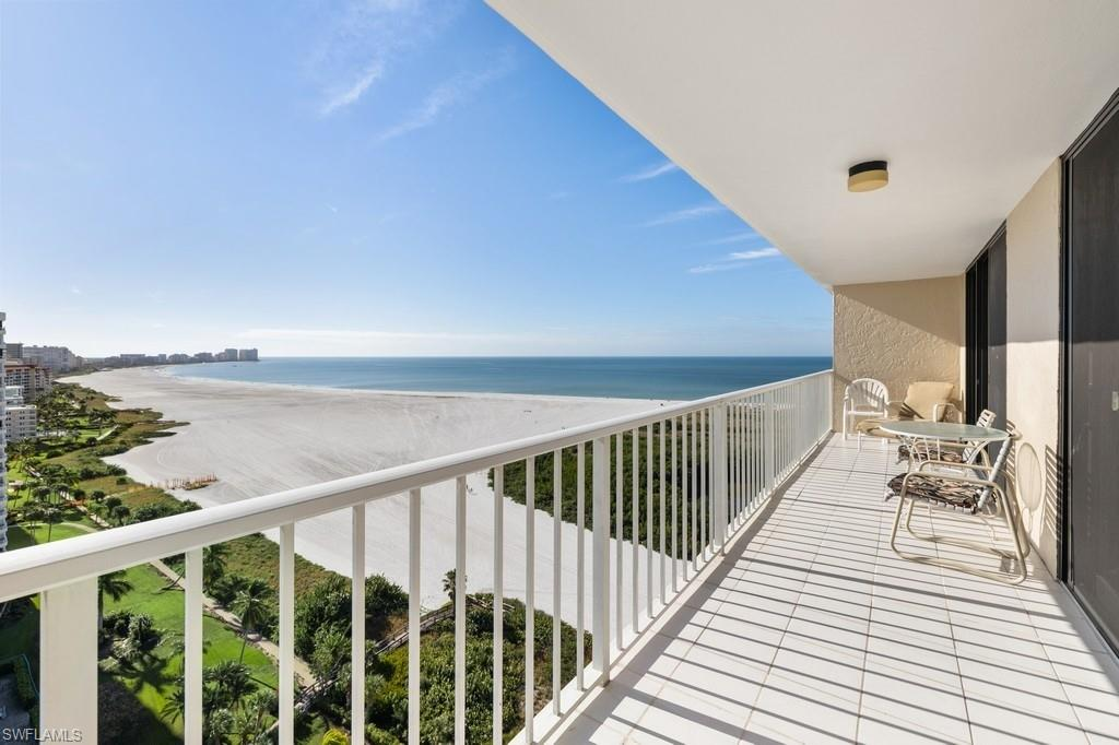 """STUNNING (UNOBSTRUCTED) $10,000,000 DIRECT UNOBSTRUCTED BEACH & GULF VIEWS! CONDO IN TOWER 3 WITH  THE DESIRABLE SOUTHERN EXPOSURE .GORGEOUS MORNING SUNRISE FROM THE 18TH FLOOR UNIT, JUST WHAT YOU COME TO FLORIDA & MARCO ISLAND FOR! ALL BEDROOMS HAVE AN EXIT TO THE BALCONY. ALL NEW IMPACT WINDOWS & SLIDERS FOR TOTAL & COMPLETE """"HURRICANE"""" STORM PROTECTION. THIS IS AN INSIDE INTERIOR A/C HALLWAY UNIT (NOT AN OUTSIDE CAT-WALK UNIT). WEEKLY RENTALS ALLOWED, OFFER HOMEOWNERS SUPER VACATION RENTAL OPPORTUNITIES AND INCOME WHEN NOT IN USE. """"SOUTH SEAS"""" IS ONE OF FEW GUARD GATED DEVELOPMENTS ON MARCO AND INCLUDES 11 ACERS, OFFERING ALL RESIDENTS BEACH ACCESS, HARD-THRU CLAY TENNIS COURTS, PICKLEBALL COURT, HEALTH + WELLNESS CENTER, AND, BOAT DOCKS FOR LEASE. HAVING ADDITIONALLY, THE MARINA, BOATING/FISHING ADDITIONALLY ARE ADDED AMENITIES YOU DONT FIND ELSEWHERE ON MARCO ISLAND. NORTH ISLAND LOCATION IS CLOSE TO ALL RESTAURANTS, MAJOR SHOPPING, CHURCHES, ENTERTAINMENT, AND, EASY+QUICK EXIT OUT TO THE GULF. DONT MISS THIS OPPORTUNITY!"""