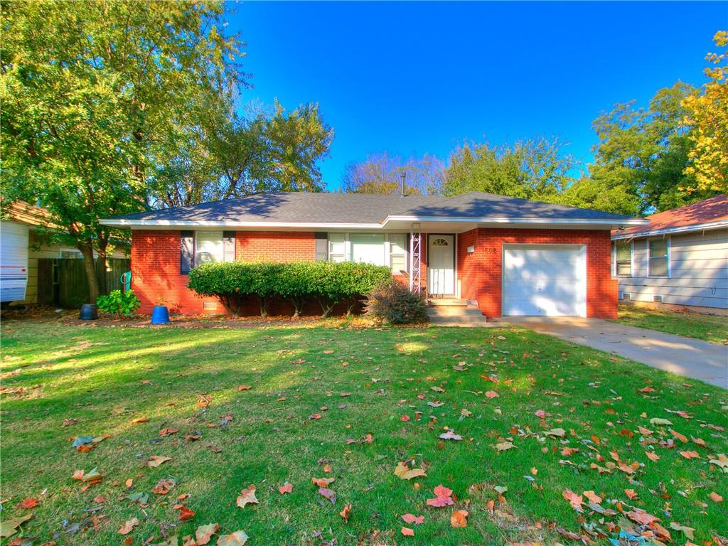 Cute central Norman home located close to OU and Rotary Park. This two bed one bath homes comes with beautiful hard wood floors.  This house is in great shape and is move in ready!