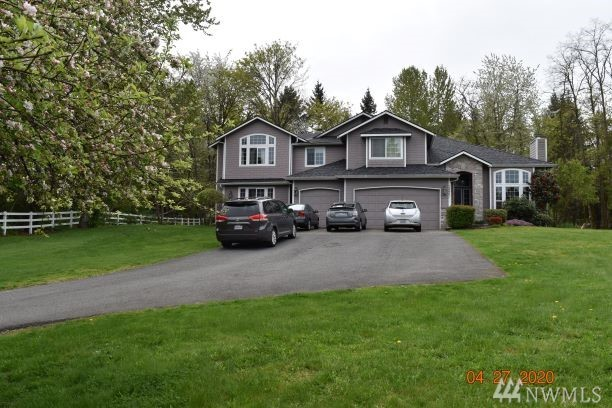 Greatly maintained 6 bdrm + den 2-story siting on 1.65 acres in high end community. New 40 year roof, hardi-Plank Siding. Spacious deck ,private yard,various fruit trees and storage shed. Chef's kitchen features slab granite, kitchen island w/breakfast bar. Master suite w/ steam shower, MAXX spa tub, walk in closet. Spacious theater/rec room. Wired for sound. XL bedrooms. Large driveway plus 3-car garage. The house is used as a daycare, for investors, the tenant can sign long term lease.