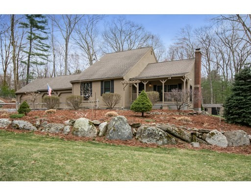 Review of offers 4/19 at 8 pm. This gem of a Cape will seduce you with its beauty and warmth! Set in over 2 acres it boasts all of the upgrades you desire. You'll enjoy the open plan living area, with gorgeous fireplace, hardwood floors, and beamed ceiling; perfect for families and entertaining. Your kitchen boasts upgraded cabinets with granite counters and stainless steel appliances. You can either dine at the kitchen island or in the elegant, wainscoted dining room. The east-facing family room has a pellet stove, for staying cozy during winter, and enjoys an abundance of natural light from the wall of windows and sliding doors leading onto the deck. The master bedroom with a full bath is on the first floor, while the other two bedrooms and full bath are on the second floor. The basement, together with the outside shed and barn allows for plenty of storage and you'll be able to host summer barbecues in your level back yard. Don't let this one get away, set a showing now.