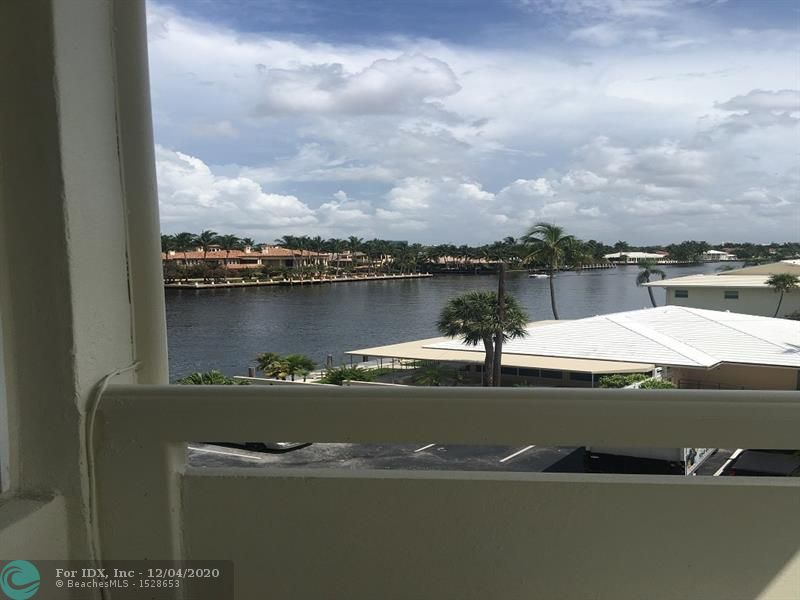 Highly desirable outside corner unit with fantastic views of the intracoastal and Galt Ocean Mile. Sunny North East exposure new Impact Windows and  Door. Large private balcony. Great amenities including a 30 x 60 heated Pool directly on the Intracoastal Waterway. Walking distance to the Beach, Post office, Water taxi, Restaurants, Banks and Grocery stores. 24 hour Security, Exercise room, Library with internet, BBQ area and a Community room. One buyer must be 55+, no rentals, no pets.
