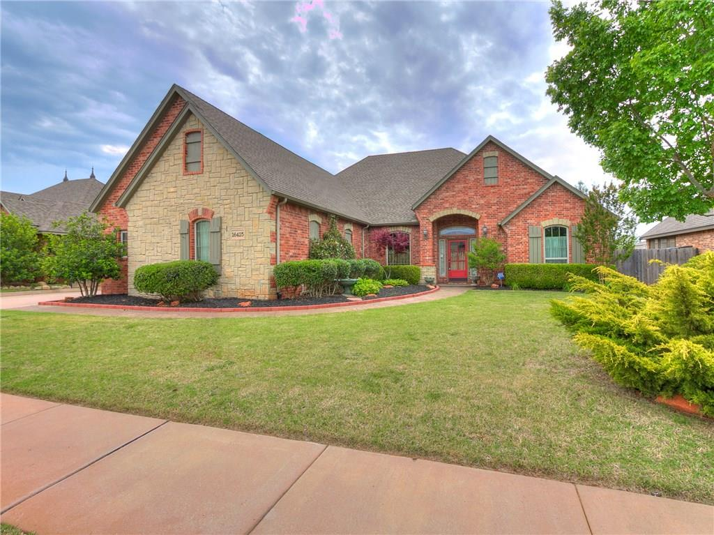 Gorgeous custom home in Regency Pointe!! Large open floor plan with 4 bedrooms downstairs and one bonus/bedroom upstairs. The upstairs room has a full bathroom. Neutral colors throughout. Living room is a great size with knotty alder woodwork throughout. The living room has a gas fireplace and the views from the backyard are gorgeous. Lots of natural light throughout this home. Kitchen is lovely  with stainless steel appliance, knotty alder woodwork, great pantry,tons of cabinets and granite counter tops. Large dining room with wood floors. Oversize  master bedrooms with an amazing walk in closet,  large master bathroom , with a beautiful shower.Every inch of space was utilized in this home.Nice utility room with storage and a sink. Lots of storage throughout this property. Gorgeous backyard that overlooks the fountains and pond and has a large covered porch. So many extras in this custom home. Call today for your showing. Great central location that is close to the turnpike.