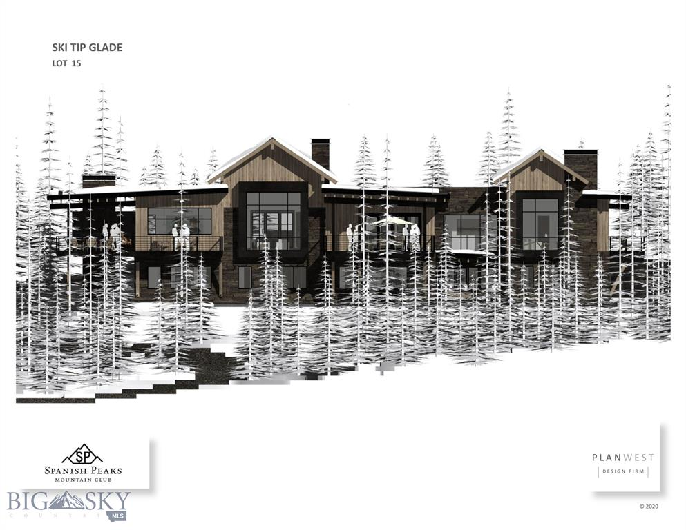 Adjacent to ski trail and large open space making this one of the best ski accessible and private lots in Spanish Peaks.  Custom contemporary home with highest quality finishes constructed by one of the best quality builders in Big Sky. Listing Agent is related to the Seller(s).