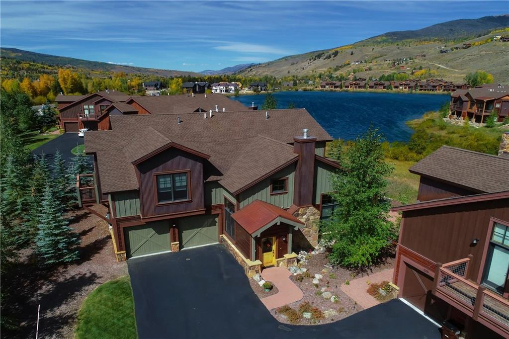 This lakeside paired home, in coveted Angler Mountain Ranch, has a great floor plan with ground floor master & another master upstairs. The office/Den has a murphy bed for 4th sleeping area. Walk out the back door and be renewed by the gorgeous lake & open space view. Large, upscale kitchen w/granite counters, hardwood & stone floors throughout the home & soaring ceilings. Bike from the flat location, kayak or paddleboard from the lake clubhouse, hiking paths, close to skiing, dining, shopping.