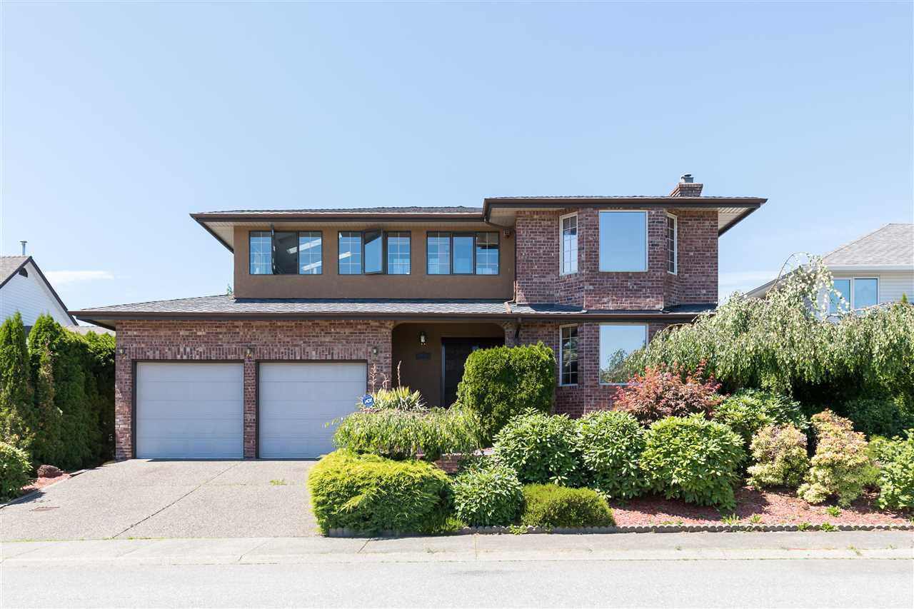 Welcome Home to Kingfisher Place in a Cul-De Sac!! Privacy is always a premium and this beautiful street has less then 10 homes. Custom Built 3,844 Sq Ft 2 Storey with Basement Home boasting 6 Bedrooms and 4 Bathrooms located in desirable West Abbotsford with a self contained 2 Bedroom Suite with seperate entrance ( also ideal for a home based business) . Grand entrance upon entry with vaulted ceilings and plenty of natural light. Extremely well maintained throughout with rewaxed hardwood floors, crown moldings, functional oak kitchen with island, separate family/living/and dining spaces, double garage & breathtaking 180 degree views from the indoor solarium - enjoy your morning coffees an stargaze for days in the evening.  Great location close to all levels of schooling, the Hwy, & more!