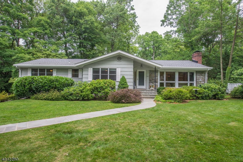 Beautifully maintained & presented ranch on just over one-third secluded, private acre in Murray Hill/backing onto the Countryside section with NP mailing address & Berkeley Heights schools & taxes.  Lovely eat-in kitchen, 4 beds on 1st floor + 2.1 baths (one en suite to the master), screened porch, LR with gas fireplace, stone & built-ins, great lower level with large windows, excellent storage, laundry, workshop, rec room, exercise area, half bath (potential for in-law or au pair suite - half bath could be expanded easily to create full bath).  Gorgeous, mature yard with trees and shrubs encouraging great bird life.