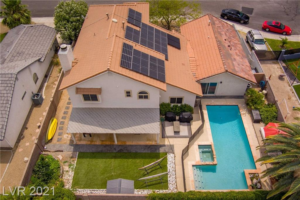 **Open House Sat. 6/19 2-5PM**  NO HOA! Beautiful Home in the Heart Of Green Valley, Wonderful Home to Entertain. This 6 bed, 3.5 Bath Home includes a connected 2 Bed Casita, with Kitchen hookups, Living Room, and Laundry Area and Separate Outside access and Interior Access Behind a Secret Door! Solar Panels are owned. Amazing Investor Opportunity. Spacious Family Room with Fireplace. Master Suite v Vaulted Ceiling, Dual Vanity + Storage. Upgraded Light Fixtures, Ceiling Fans in Every room. Pool is heated! Great for a Multi-Gen Family.   All New Dual-Pane Windows with Argon Gas Upgraded 2 Years ago, Electric Car Charger Installed in Garage. Solar Panels are owned. Very Energy Efficient Home.