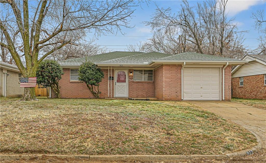 UPDATED!!! SECTION 8 Welcome. 4 Bedroom 1 Bathroom located just south of I-44. Close to Tinker Air Force Base & Rose State College. Easy Access to Highway and Shopping and Schools. Fenced in Medium sized back yard. Partial Garage for Extra Storage for bikes, Christmas tree, Lawn mower etc...Security deposit is equivalent to one month rent.
