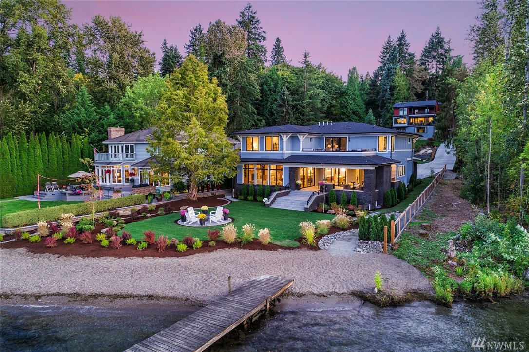 Dive into each day on 90' of spirited Lake Sammamish wf. Sleek NW contemporary due to be completed July 2019 expertly curated w/ the opportunity to infuse your individuality. Awaken to the sun reflecting on the lake, dip your toes in the sand & cozy up by the covered outdoor fp. Voluminous scale & a wide open floorplan juxtapose w/ an intimate lakeside connection. Moor your boat on your private dock & store your paddle-boards in the large 3-car garage. Just mins from MSFT, DT Redmond & 520.