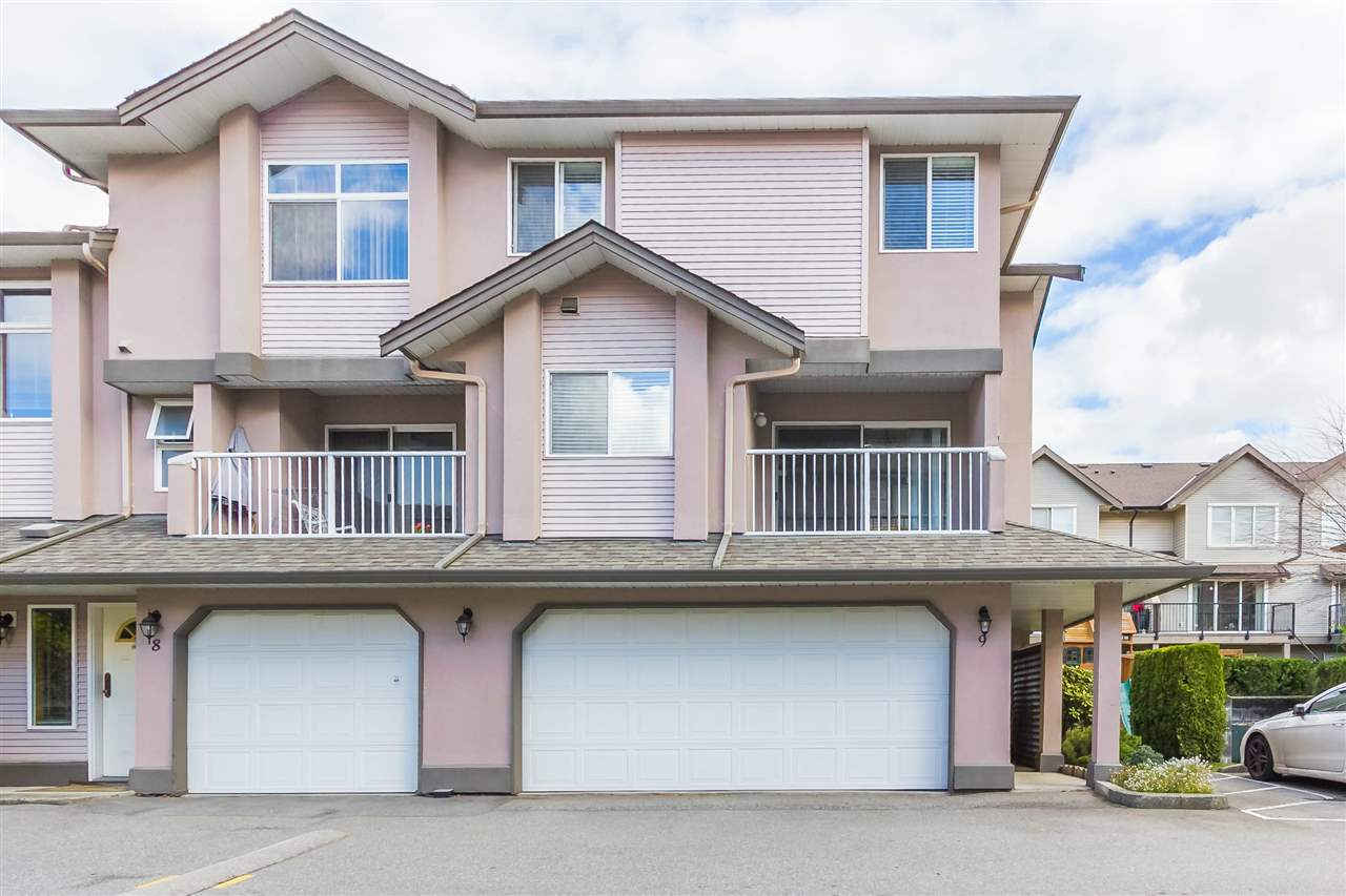 Welcome home to River Court in a prime location! Well maintained End Unit 3 Storey Townhouse boasting 1,545 sq ft with 3 Bedrooms and 3 Bathrooms. Great layout upon entering as you have access to your Recreation Room (could be used as a 4th bedroom) leading out to your fully fenced and private backyard. Main level boasts an open concept living room with Gas FP, designated dining space adjoining to your kitchen and a balcony off of the front. Spacious bedrooms on the top floor and a beautiful ensuite bathroom with a walk-in shower. Updates include laminate flooring throughout, carpets upstairs and a newer Washer/Dryer set. Double garage for your vehicles and tools. Unit is located inside the complex and away from the noise of Pitt River Rd. Affordable strata fees and close to all amenities!