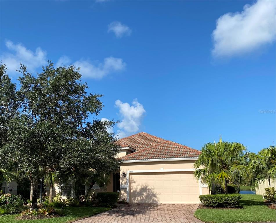 Palm Lakes is a small enclave of only 114 beautiful, single family homes with barrel tile roofs, paver driveways and mature, landscaped yards. The lush landscaping, the surrounding lakes and the gated entry provide a very private, secure environment. The community has a playground, heated community pool & clubhouse - events are held monthly for residents. Maintenance free living gives more time to enjoy the Florida warm, sunny days. Palm Lakes is within 6 miles of downtown Sarasota and Bradenton, UTC Mall, Shopping, Restaurants & Parks. Siesta Key, Lido Beach and Anna Maria are a short drive. The single family, one story home is on a beautiful, large lake and provides the ultimate for bird watching and gorgeous sunsets! It is located toward the back of the community which gives a very private feel to the home that sits at the end of the street. There is a very large, private, grassed area to the south and the large lake to the west. It is a short walk to the clubhouse & pool. The home has all the upgrades buyers look for in a home: the A/C, Kitchen Appliances and Washer/Dryer are all one year old and the inside walls were painted a year ago. The architectural features & the warm neutral tones of the home add so much to the cozy style. There are many possibilities of making best use of the space. The living room and dining area are combined and there is also a large, breakfast nook off the kitchen that can be customized for other uses. The master bedroom is in the back of the home with views of the lake. The second and third bedroom are in the front of the home with a second bathroom. The lanai is accessed from the living room or the breakfast nook to spend time bird watching or just enjoying the sunsets and the outdoor living. This community is a hidden gem off the University Parkway corridor. Come and check it out for your new Florida lifestyle! Owners must own the home for two years before renting. Tenant is moving out by September 30, 2021. Floor Plan Attached.