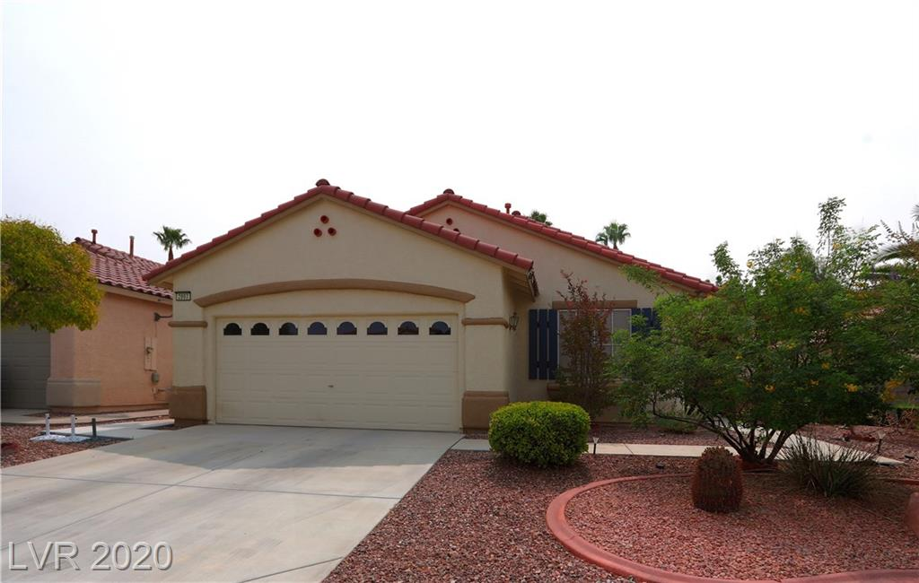 Single story in Seven Hills, 3 bedroom, 2 bath.  Kitchen features island, breakfast bar, walk in pantry and granite counters.  Tile flooring with carpet in bedrooms. Ceiling fans, fireplace in living room.  Low maintenance desert landscaping.  Patio with BBQ.