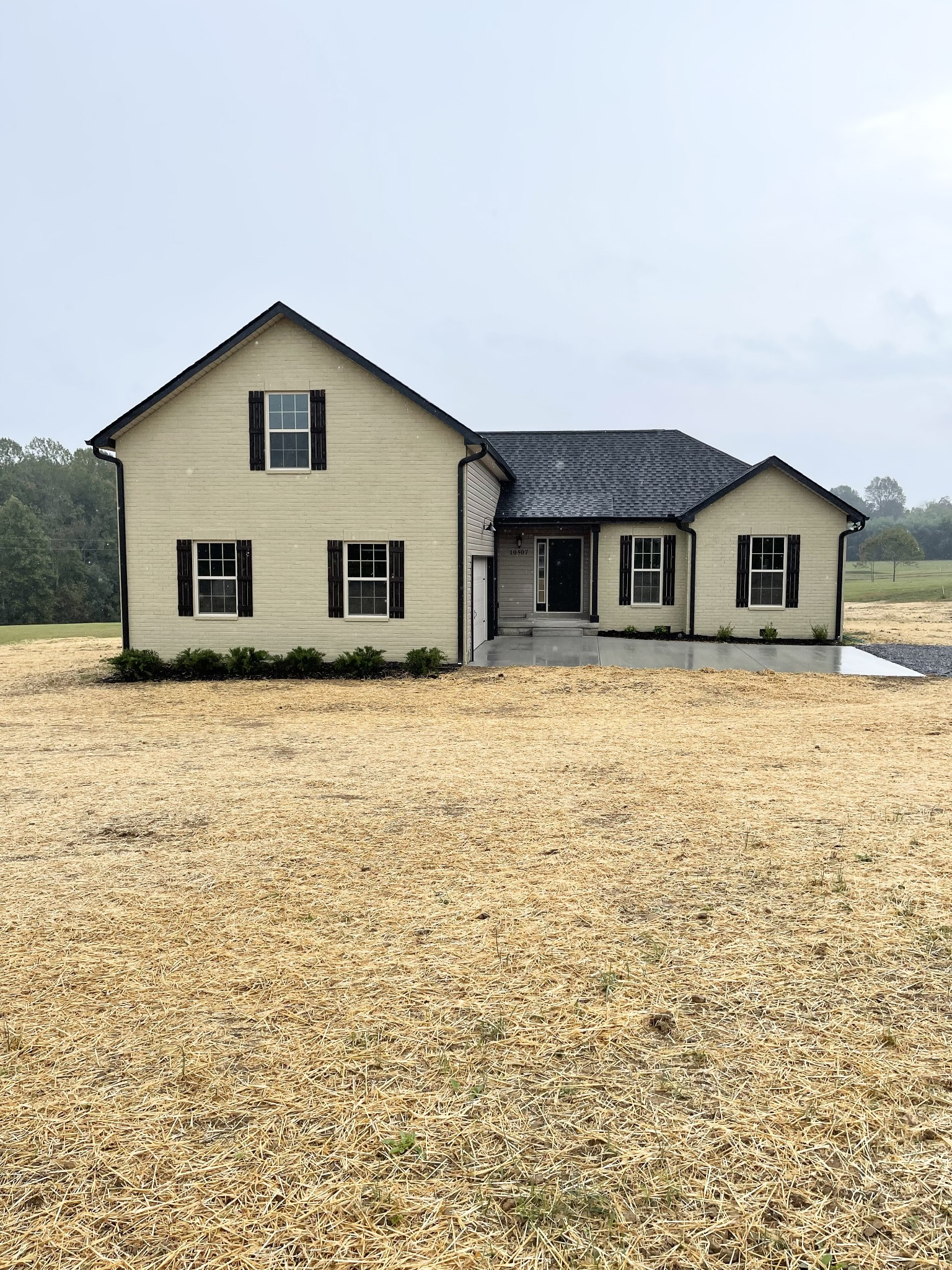Spectacular views!! This beautiful brand new home sits on over 2 acres with the most gorgeous back yard view. This turn key home features two bedrooms, a flex room or an in home office, a huge bonus room with a half bath, beautiful craftsmen style trim, recessed lighting, and much more!