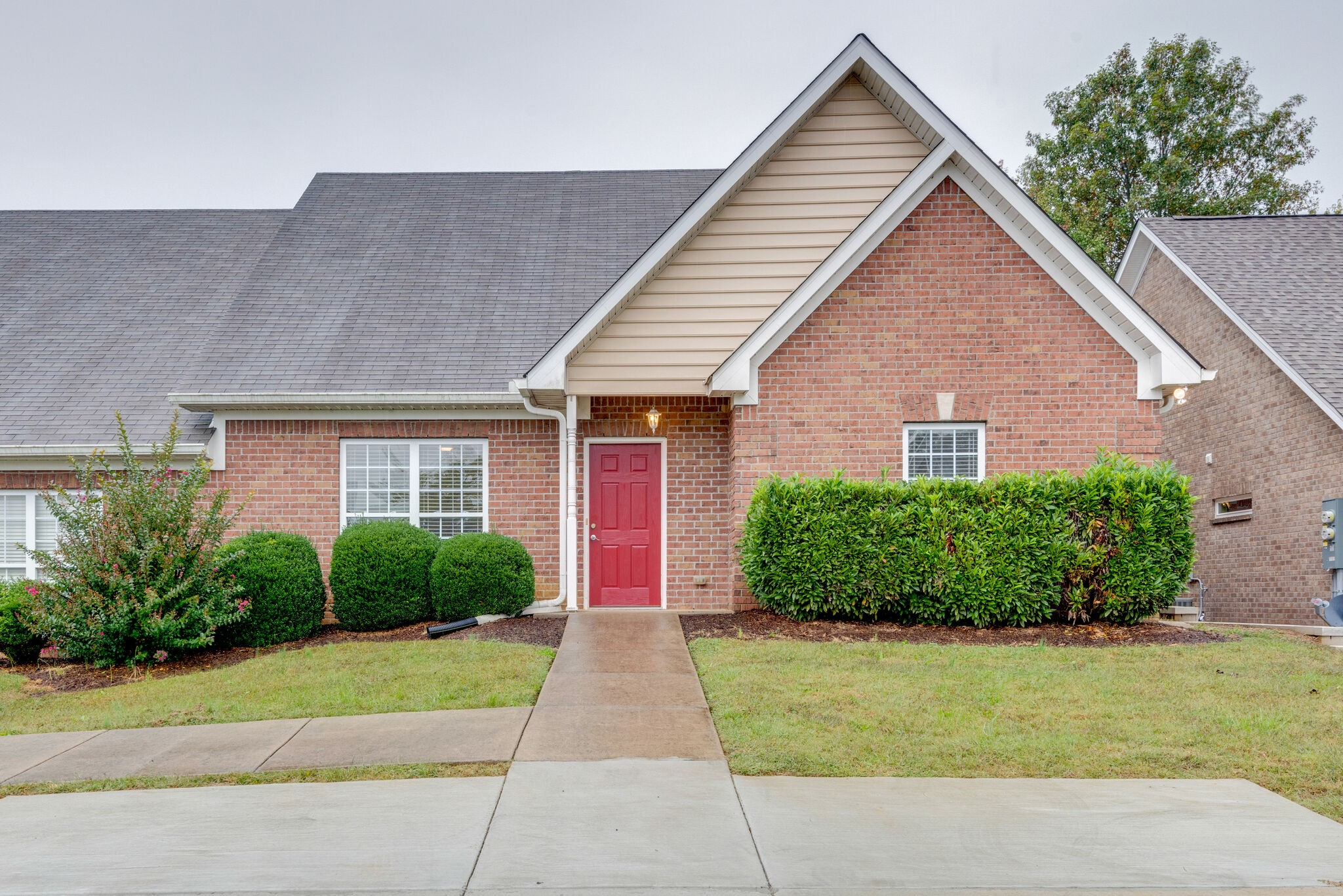 Don't miss this one--one level living in highly desirable Fernvale Springs neighborhood with Williamson Cty taxes just minutes to Publix, Walmart and even a nature park.  No carpet, no stairs even from parking pad!  2016 HVAC, 2009 Water Heater annually serviced by Hiller, large eat-in kitchen with entry to back patio which faces a tree line for privacy The primary suite features a walk-in closet and updated master shower.  Dining room can also be used as a flex/office space and attic storage.