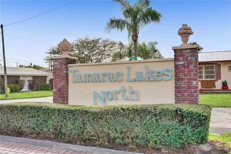 Own the best lot in the neighborhood, 102'+ lakefront! Impact windows, A/C new in 2020, and all duct work cleaned. Pool and club area all redone in 2020. No age restrictions. Very reasonable maintenance, $83.00 per month. Carport has Rolladen shutters on both ends for storage. You can put a floating dock or ramp on the lake. Lawn sprinkler system from lake. Sit and enjoy this view ALL the time. Call for an appointment.