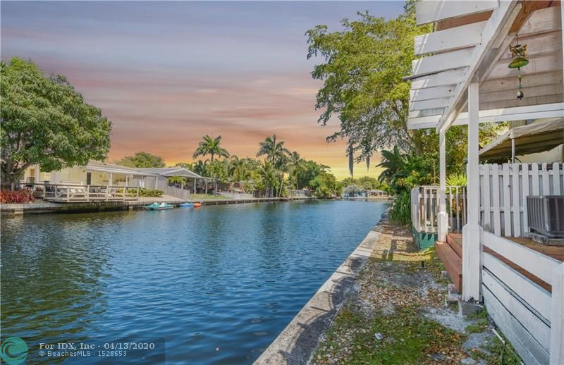Wonderful Wilton Manors Waterfront Townhome.  Tucked away on a tree-lined street in Townhouse Isles, and only 3 blocks from the entertainment on Wilton Drive. Open floor plan with a wall of sliders that provides an amazing view of the water. Features White Kitchen with granite counters that is open to the living/dining area.  2 spacious bedrooms with water views  & 2 FULL beautifully renovated baths.  Tons of closet and storage space, laundry room on 2nd Fl, office or nursery space and tile floors. Great outdoor space with a covered deck area, the perfect place to unwind after a busy day or start the day with a cup of coffee.   2 Parking Spaces. Pet friendly. A MUST SEE!!