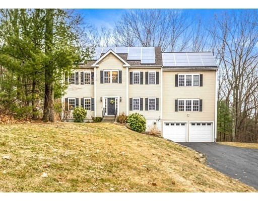 Welcome to this beautiful center-entrance colonial next to Breakneck Hill Conservation. Bright, open floor-plan with high ceilings and hardwood floors throughout. Large eat-in kitchen w/ SS appliances, double oven, granite counters, large center island & slider to back deck transitions seamlessly into spacious front-to-back family room with gas fireplace. Dedicated dining room w/ wainscoting opens to a formal living room. Private first floor office with french doors. Large master suite with sitting area, two walk-in closets and master bath with oversized double vanity, whirlpool tub and walk-in shower.  Three large guest bedrooms with generous closet space. First floor laundry room. Walk-up third floor has potential to be finished. Large deck and private yard backs up to beautiful conservation land. Amazing location: less than 1 mile to Starbucks & local restaurants. Short drive to Commuter Rail & easy access to Rt 9/Pike/495