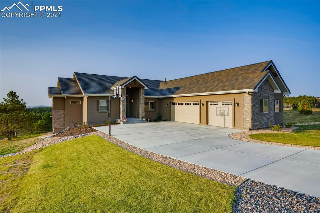 Located in the heart of prestigious Walden Preserve, this 2-year-old home is literally like new. It is a custom walkout rancher, secluded on a cul-de-sac on a flag lot with open space behind it. It has 3 a car garage, stucco exterior, and is beautifully landscaped. The gourmet kitchen has all the expected upgrades of a higher-end custom home. It offers hardwood flooring, a large quartz top island, stainless steel appliances, large pantry, breakfast nook, and a walkout to the deck overlooking the open space. Very private setting. The great room has a floor to ceiling stone fireplace and built-ins. The large master bedroom has a 5 pc bathroom and large walk-in closet. Finishing off the main floor is the 2nd bedroom on the opposite side of the home. The lower level family room has a recreation area with a gas fireplace and built in cabinetry. Off of the family room is a guest suite with attached bathroom. Additionally, there is a wet bar with beautiful cabinetry and two other bedrooms. Please view the 3D Matterport video tour.
