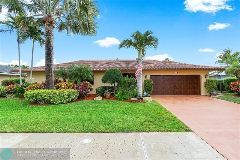 Boater's dream house! Beautiful sunrise from SE facing lanai overlooking canal front salt water pool. Home is just two properties off the ICW point. 2 Inlets just 20 min. away. Lanai has large dining & large seating area. Updates incl. Roof 2006, 22KW Genset w/500 Gal tank 2010, Tankless gas H20 water heater,2013, Impact windows on 3 sides of house 2018,  Impact Garage Door 2018, 4 Ton A/C 2018, Sea Wall sealed 2019, Chef's kitchen w/6 burner gas Stove, Double Wall oven, S/S appliances. No popcorn, Ext. painted 2019, Security cameras, alarm system & more. Shutters on outside of lanai protect sliders, have never removed furniture in a hurricane. Pool heater not warranted. Dock has had a 60 Ft. O/A, 5 Ft draft yacht on it for several years  Both 30 & 50 Amp service plus water and standoffs.