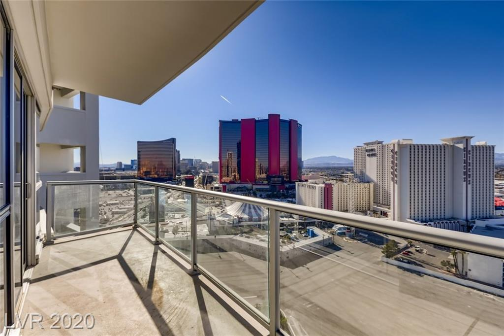 Offering phenomenal views of the Las Vegas Strip & Red Rock Mountains. This gorgeous 2 bed 2.5 bath corner unit sits on the 20th floor. Luxury vinyl flooring in main living areas, upgraded carpets in all bedrooms, marble bathrooms. The kitchen features gorgeous white quartz counters, glass stack mosaic backsplash, white cabinetry & full stainless steel appliance suite. Large wrap around glass balcony.  Sky offers 24 hour security, movie theatre, billiards room, event space, racquetball court, fitness center & Men & Women's locker room with Steam & Sauna. Electric car charging stations at Valet!
