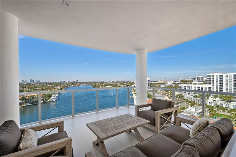 Only corner unit available! This Subpenthouse offers unparalleled views of the Intracoastal waterway, Downtown skyline & Atlantic ocean. A unique opportunity as this residence comes with a private roof top terrace complete with a summer kitchen. Newly completed in May of 2020 this estate Home in the sky offers a spacious flow-through floor plan, floor to ceiling glass with  panoramic views and expansive balconies.  A large master suite w/ separate his/her bathrooms. Kitchen offers custom Italian cabinetry with quartz countertops with a waterfall edge, Gaggenau appliances and a 70 bottle wine tower. The home is outfitted with electric shades and smart technology /control four. The building amenities include an intracoastal front pool, jacuzzi, his & her saunas, fitness center, valet 24/7.