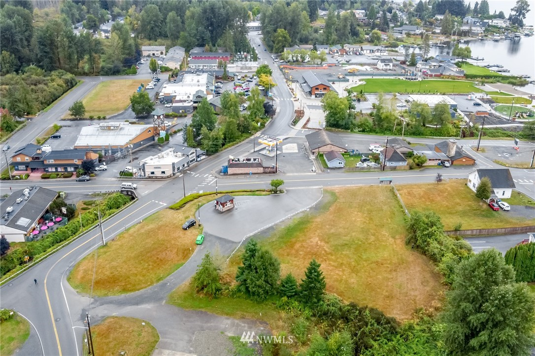Prime development location. Located in the heart of downtown Lake Stevens. Very rare offering. Largest unbuilt group of properties available in the downtown core. Total of 5 tax parcels. Total lot square footage is 118,919 or 2.73 of an acre. Highly desirable A corner. Traffic pattern and visibility is extremely beneficial. Zoning is Central Business District (CBD). This zoning allows for a variety of uses. Highest and best use may prove to be residential apartment/condominiums with commercial on the main. This zoning allows for a commercial and residential applications. Possible to go 65' high. Buyer to verify all information and do all feasibility work. Presently an espresso stand on property corner (owner occupied) and one rental house.