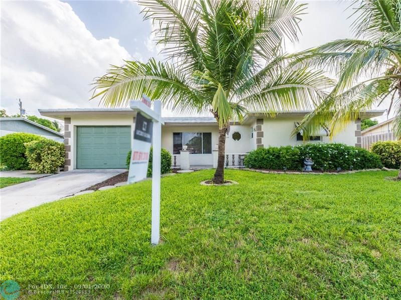 ***Taking Back ups *** Check this price!!!  Location! Location! Location! ***Huge Playroom was used as a bedroom.  It can be converted to a 3rd bedroom AND still have a playroom***  Are you looking to live minutes to the beach? This is it. A spacious 2 bed 2 bath 1 car garage single family with No HOA that has the potential to easily convert to a 3 bedroom single family home. Large backyard with room for a pool, play ground and large gatherings.... Close to all shopping, entertainment, highway, the Deerfield Pier...etc. It's Your Ideal Location! APPOINTMENT ONLY***  Property needs New Roof *****