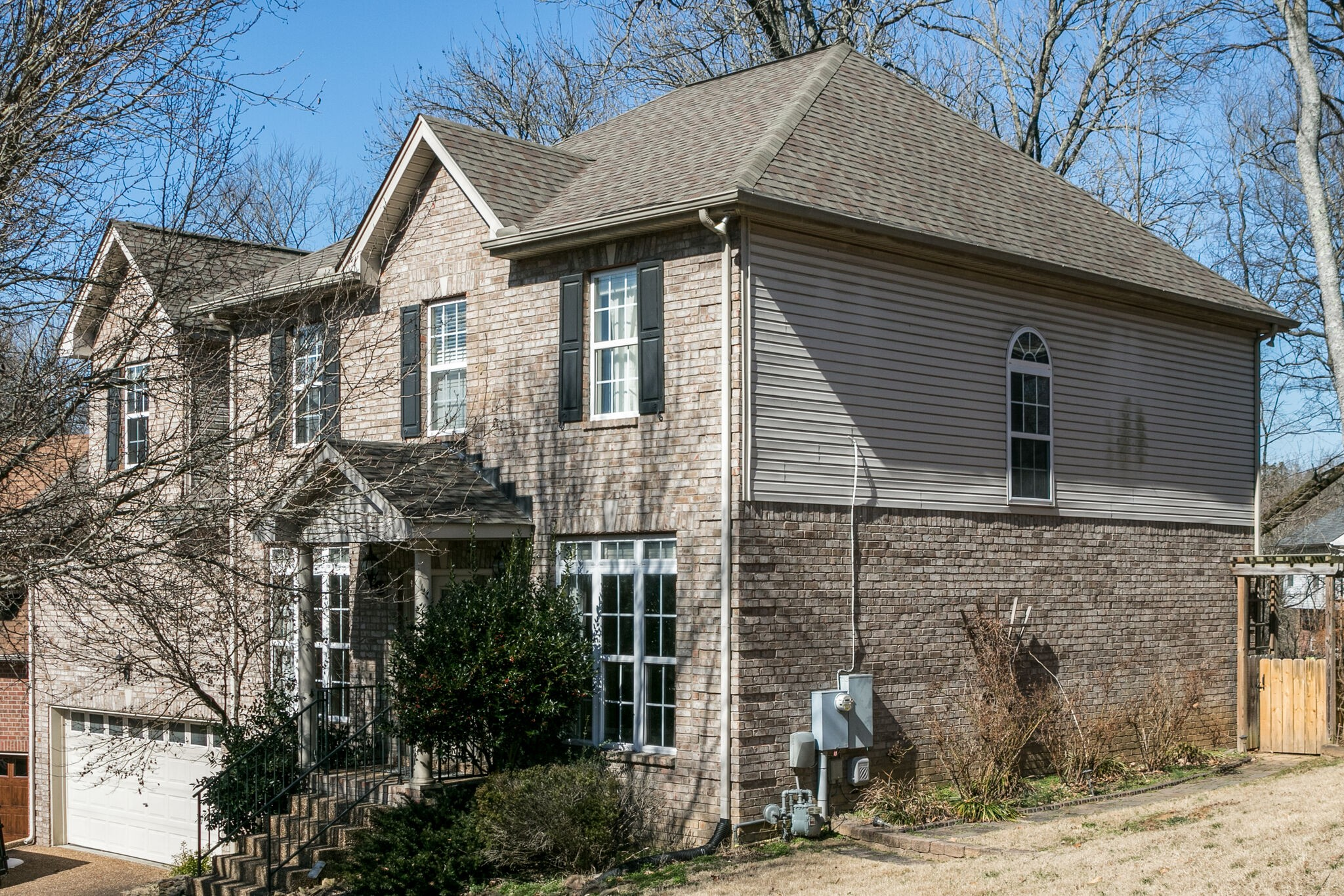 Wonderful Batson-built home. Convenient to local shops! Guest Bedroom Down Master is Up. Beautiful entryway with lots of Lighting.  Recessed Lighting. Many closets with custom shelving. Cul-de-sac, Private mature treed lot, Fenced in Back Yard