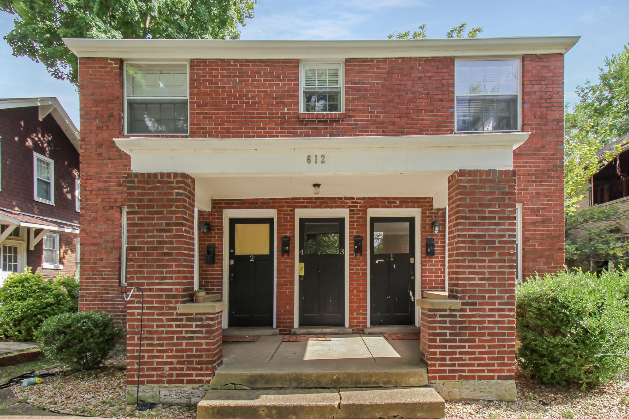 RARE 1945 ALL BRICK QUAD-PLEX IN EAST NASHVILLE!!  RUSSELL ST IS ACROSS FROM EAST PARK.  5TH UNIT MAY BE POSSIBLE IN THE UNFINISHED BASEMENT.  SINGLE GARAGE AND OFF STREET PARKING.  LIVE IN 1 UNIT AND AIR BNB 1 UNIT IS POSSIBLE OR RENT 3 FOR UP TO $1300/MO EACH.  NEW: FRONT DOORS(2) + GARAGE DOOR (2020), GUTTER GUARDS (2019), ROOF (2016) ALL UNITS PAINTED (2015-2018) HVAC (2015), HARDWOODS REFINISHED, 2 KITCHENS AND 2 BATH REFRESHED, UPDATED KITCHEN APPLIANCES.  BASEMENT STORAGE + WASHER/DRYER.