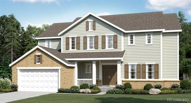 """Available in July 2019! Gorgeous Anthem Highlands 2-story home features 4 beds, 4.5 baths, great room, hearth room, kitchen with large breakfast nook, spacious loft, unfinished basement for future expansion, 3 car garage, large covered rear patio.  Extended hardwoods and carpet throughout. Modern light and fresh finishes.  The large master features a 5-piece bath and spacious walk-in closet. The gorgeous kitchen is open and features stainless appliances, island, pantry, 42"""" cabinets and more.  Backs and sides to common area. Energy efficiency and technology/connectivity seamlessly blended with luxury to make your new house a home.  What some builders consider high-end upgrades, Lennar makes a standard inclusion.  Close to dining, shopping, entertainment and other amenities.  Easy commute to Denver, Boulder, Golden and beyond. Energy Star 3.0 & HERS Rated"""