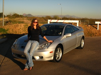 Maura and her Celica GT-S