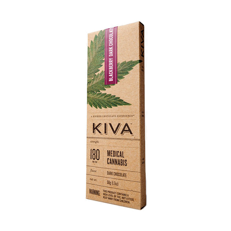 KIVA Blackberry Dark Choc. Bar (180 Mg) [ao2]
