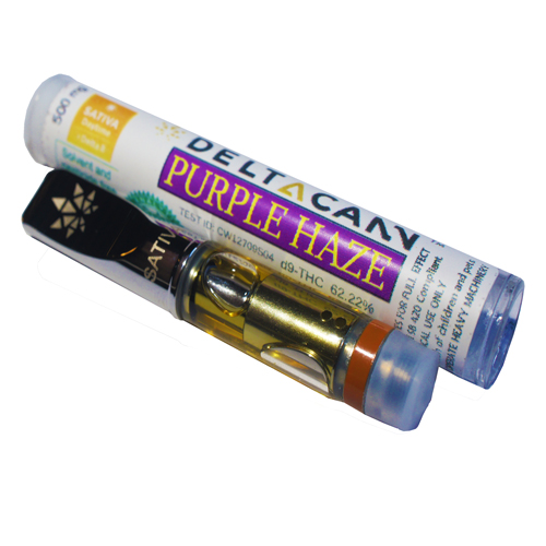 DeltaCann Cartridge Purple Haze-500MG-S (3 Cart)