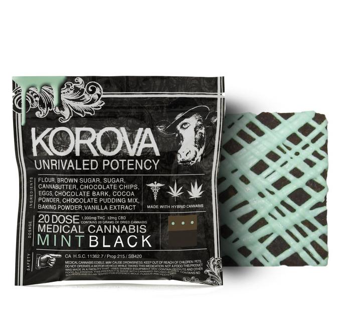 Korova Mint Black Bar 20x (1000 Mg)