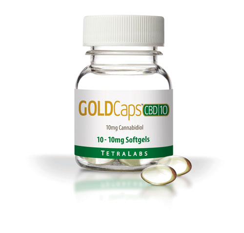 GoldCaps CBD (10Mg x 10)