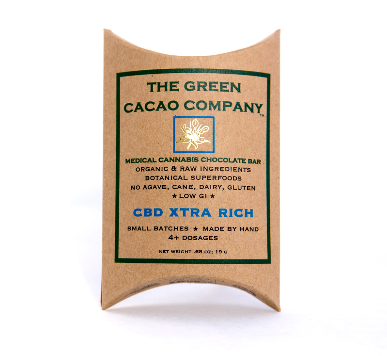 Green Cacao Co. CBD XTRA RICH Bar 15:1 (Vegan & LowGI)