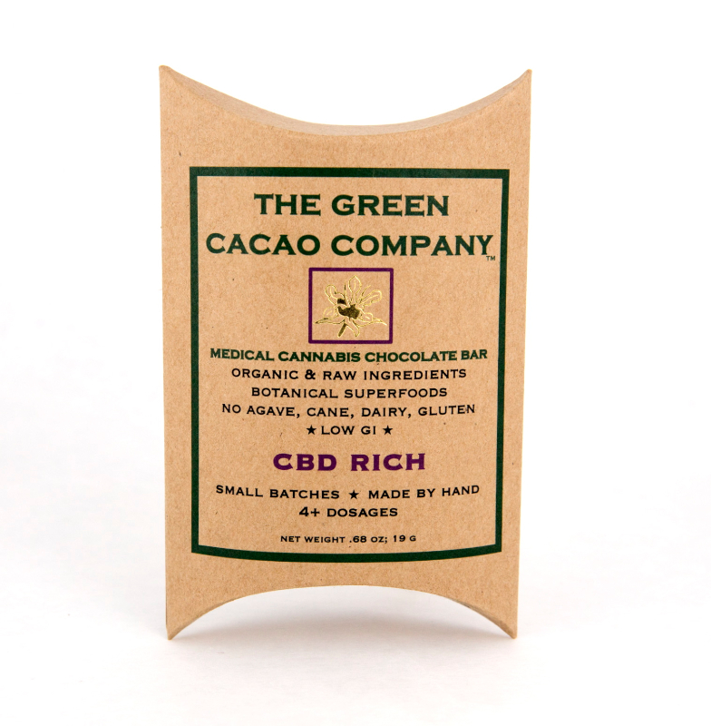 Green Cacao Co. CBD RICH Bar 1:1 (Vegan & LowGI)