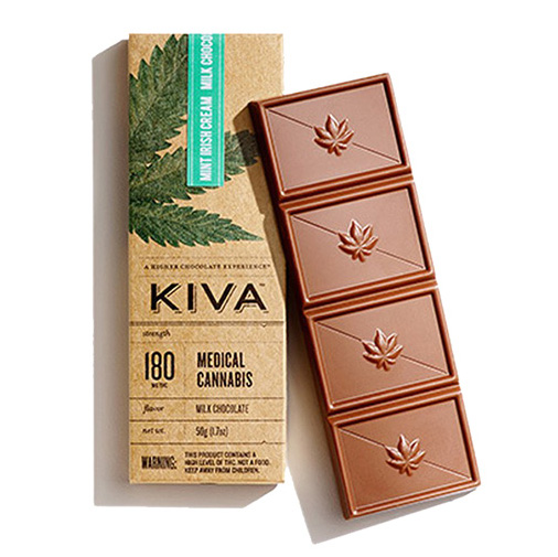 KIVA Mint Irish Cream Choc Bar (180 Mg) [ao2]