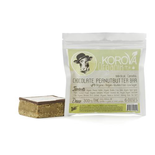 Korova Vegan Peanut Butter Bar 6x (300 Mg)