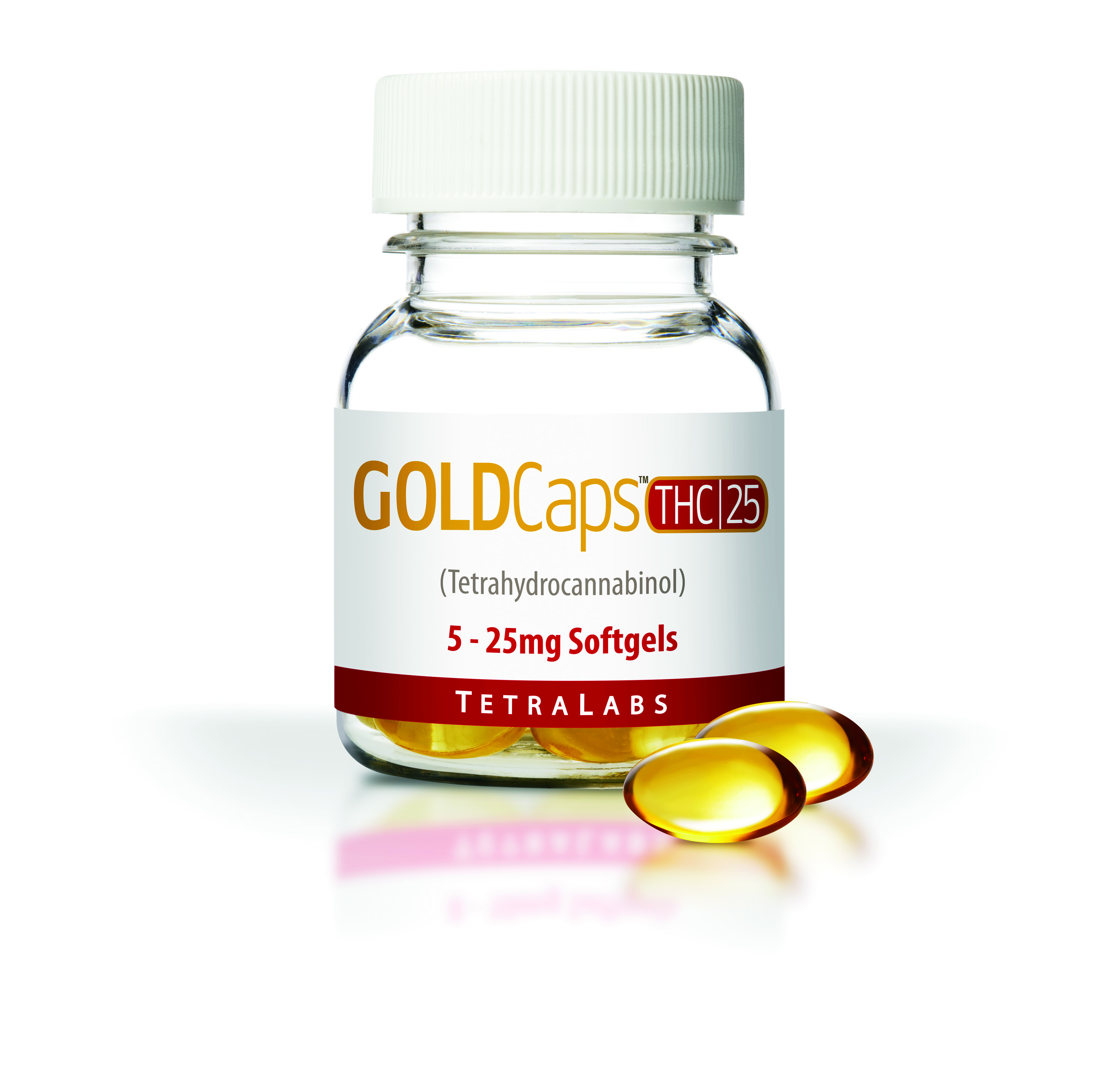 GoldCaps THC (25Mg x 5)