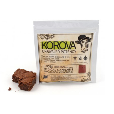 Korova Triple Chocolate Brownies 3x (150 Mg)