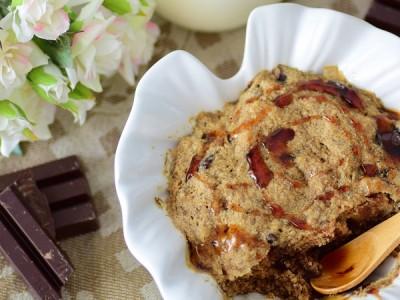 Banana bowl cake vanille, noix tigrées et chocolat :: Vegan