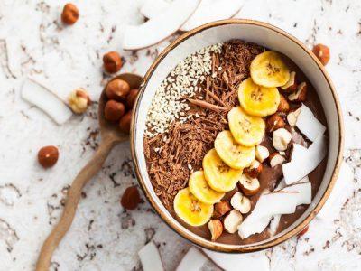 Smoothie bowl choco-noisettes