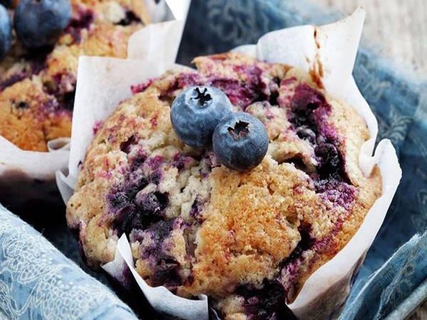 Muffins myrtilles sans gluten et sans lactose