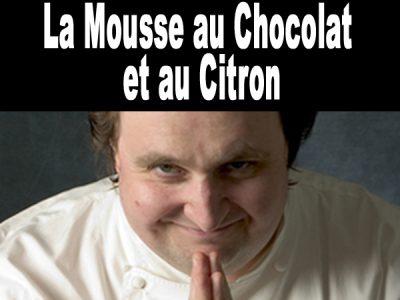 Mousse au chocolat et au citron de Conticini