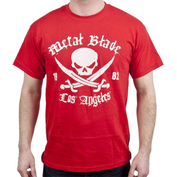 Pirate Logo White on Red