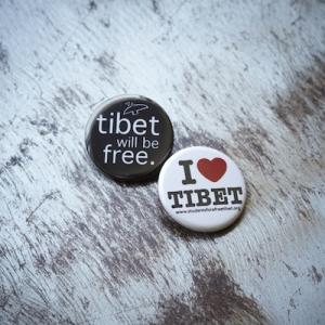 I <3 Tibet Button
